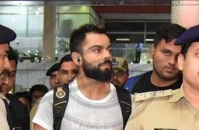 जयपुर एयरपोर्ट पर कुछ इस अंदाज में दिखे भारतीय कप्तान विराट कोहली, देखें तस्वीरें