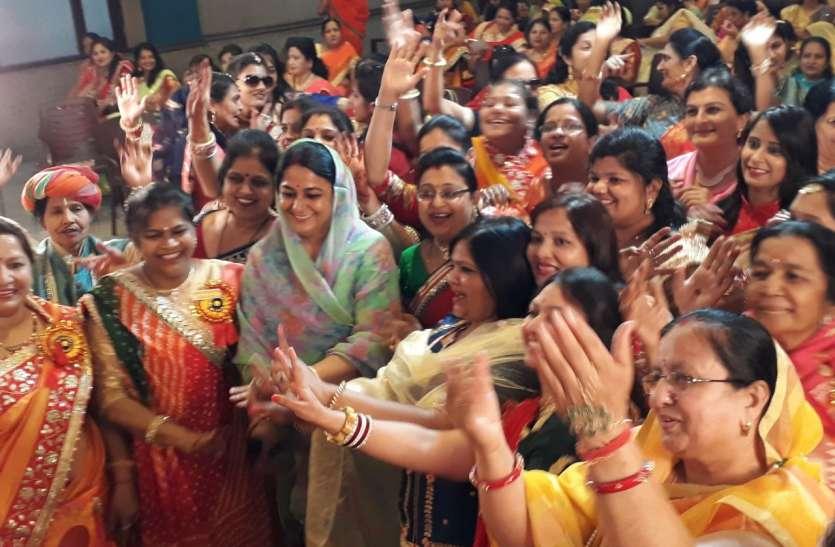 जोधपुर में गवर माता पूजने वाली तीजणियों ने मचाई धमचक, देखें वीडियो