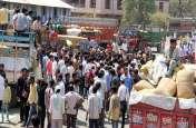 गेहूं का सही भाव नहीं मिलने पर लक्ष्मीबाई अनाज मंडी में किसानों का हंगामा  मंडी करीब बंद
