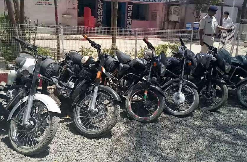 चार चोरों से 10 बाइक व देशी कट्टा जब्त, इंदौर, भोपाल और सीहोर में करते थे चोरी
