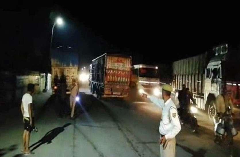 पुलिस ने चेकिंग में पकड़े कई ओवरलोड ट्रक, देखें वीडियो