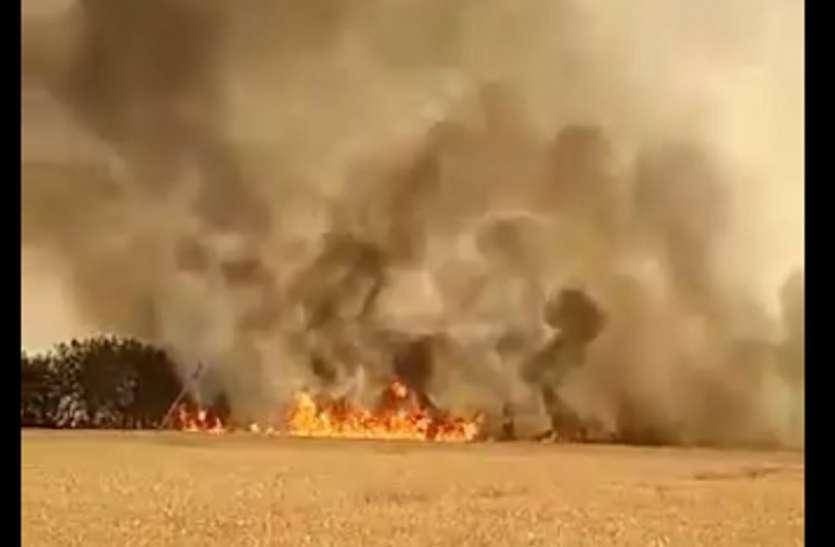 आग बढ़ा रही अन्नदाता की मुसीबतें, खिंचने लगी चिंता की लकीरें, ये है कारण