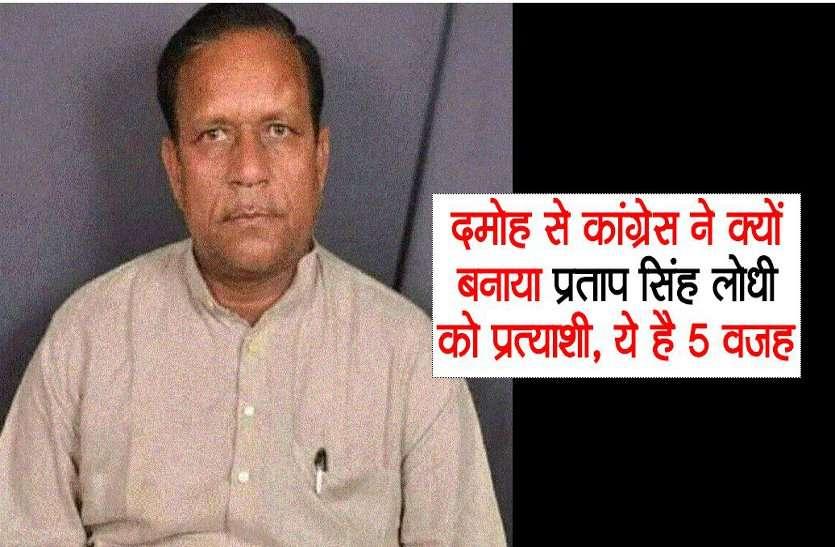 दमोह से कांग्रेस ने क्यों बनाया प्रताप सिंह लोधी को प्रत्याशी, ये है मुख्य 5 वजह