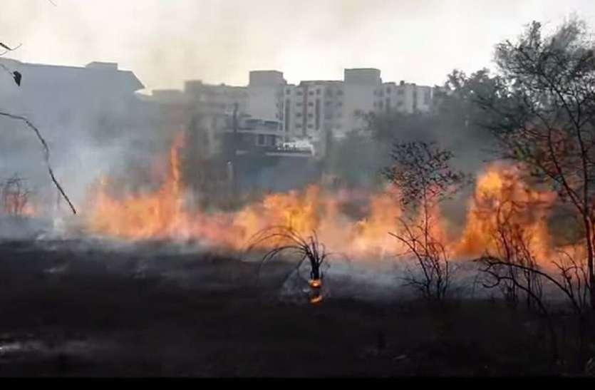 विकराल होने से पहले ही फायर ब्रिगेड ने आग पर पाया काबू