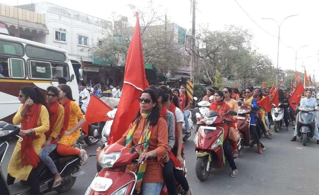 मां के जयकारे के साथ निकली वाहन रैली