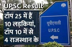 UPSC Civil Service Result: टॉप 25 में हैं 10 लड़कियां, टॉप 10 में से 4 राजस्थान के