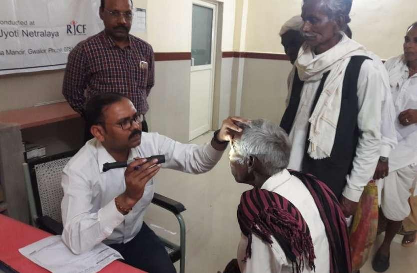 जुगाड़ के डॉक्टरों से नेत्र ऑपरेशन की लक्ष्य पूर्ति