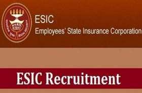 ESIC Recruitment 2019 : बंपर पदों पर भर्ती प्रक्रिया शुरू, ऐसे करें अप्लाई