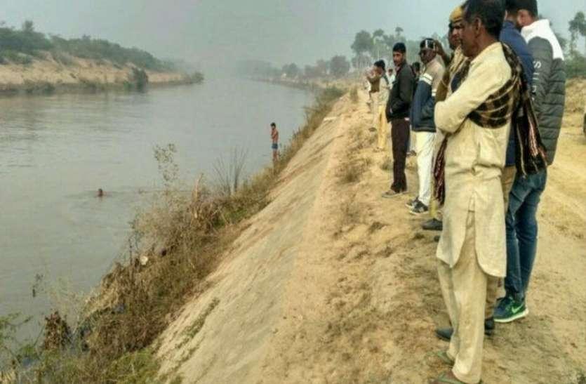 बंदी के चलते इंदिरा गांधी नहर में नहीं पानी, फिर भी नहर में कूदे मिस्त्री का नहीं चला पता