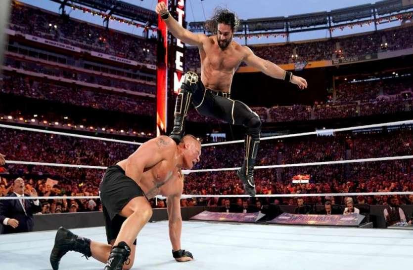 #WrestleMania WWE को मिल गया नया यूनिवर्सल चैम्पियन, सैथ रॉलिंस ने ब्रॉक लैसनर को हराकर मारी बाजी