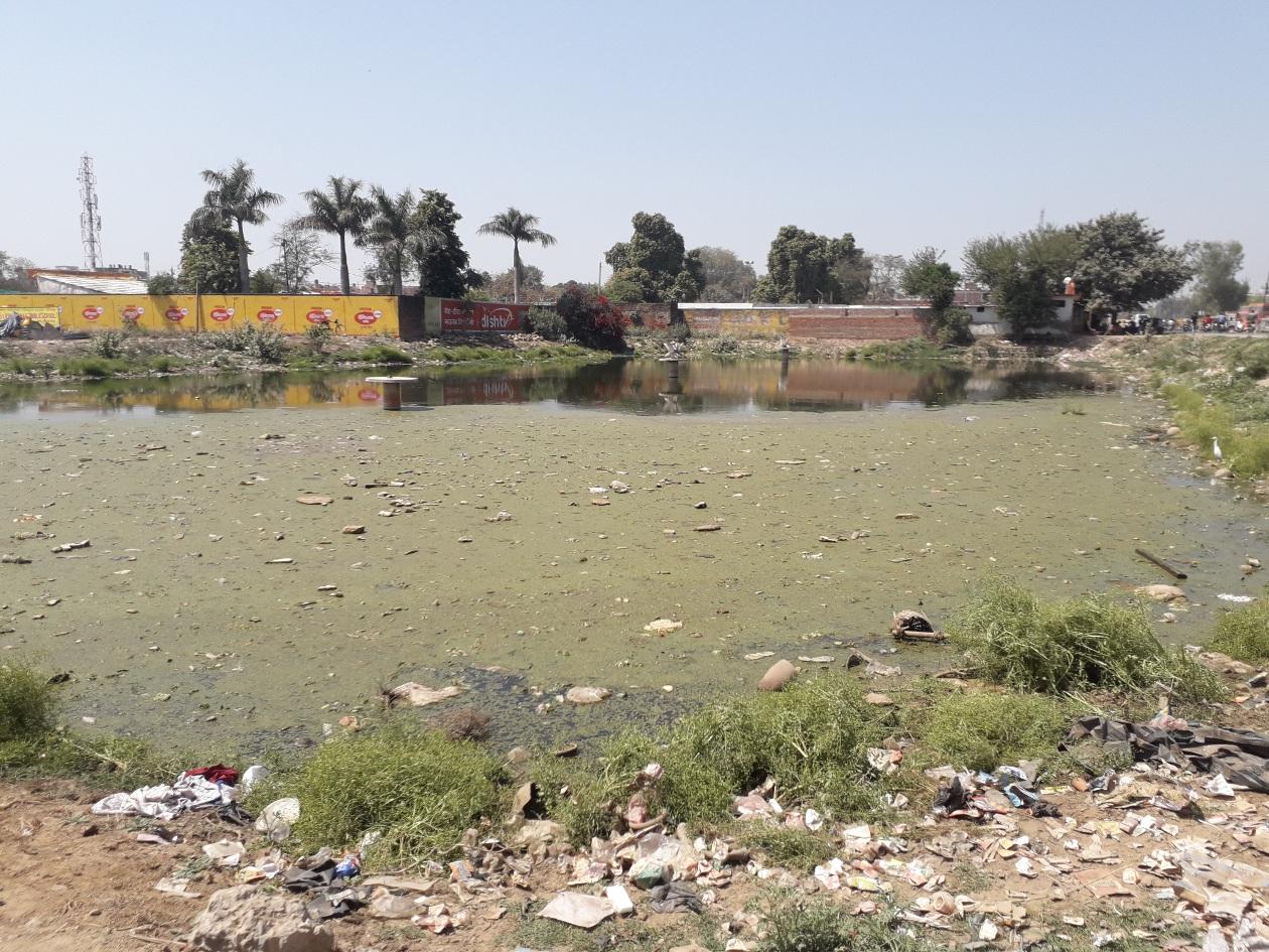 अनदेखी के चलते अतिक्रमण व कचरे से बदहाल ऐतिहासिक तालाब