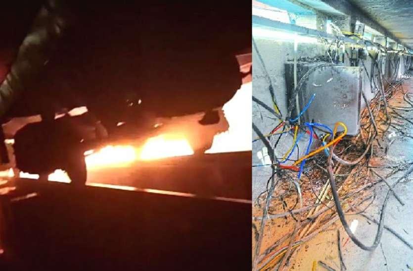 VIDEO : विस्फोट के साथ आग, 'बर्निंग ट्रेन' बनते-बनते बची इंदौर-जम्मूतवी एक्सप्रेस