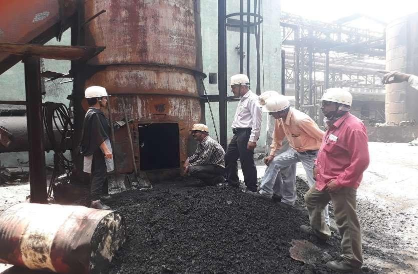 बीएसपी के पीबीसीसी चिमनी में लगी आग, कोई हताहत नहीं