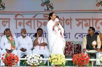 बंगाल की सीएम ममता बनर्जी का उत्तर बंगाल में धुआंधार प्रचार