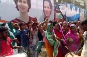 सोनिया के नामांकन से पहले रोड शो में पहुंचे कार्यकर्ताओं ने जमकर किया डांस, देखें वीडियो