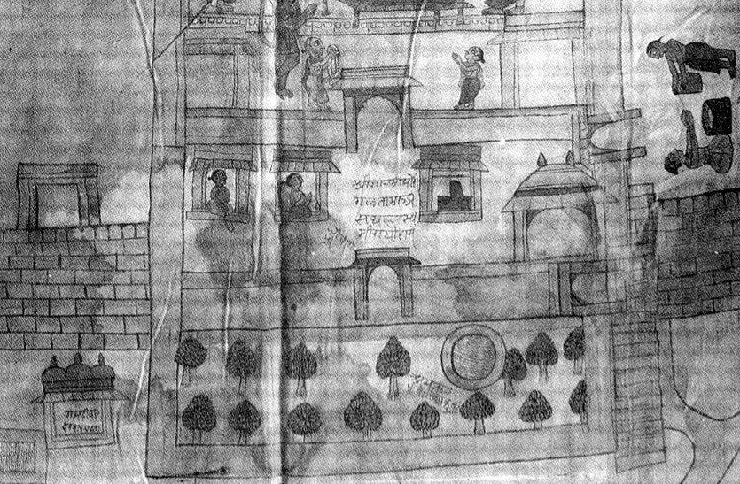 अयोध्या से जुड़े है जयपुर के तार, राजघराने में है, अयोध्या व राम जन्म भूमि का मानचित्र
