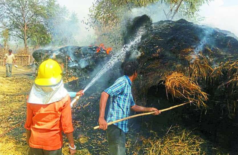 डेढ़ महीने में गन्ने के 127 खेतों में लगी आग, किसानों को हुआ लाखों का नुकसान