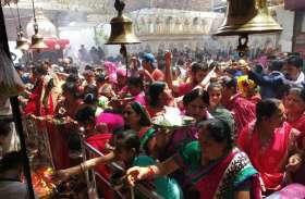 महाष्टमी:- मां जालपा मंदिर में मेले सा माहौल...देखिए वीडियो