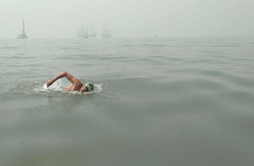 Video : सी-वारियर्स का कमाल, समंदर में तैराकी का बनाया कीर्तिमान