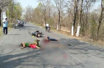 ट्रक की टक्कर से सड़क पर गिरे बाइक सवार दंपती, पहिए से कुचल गया पति का सिर, पत्नी बीच सड़क पर तड़पती रही, फिर...
