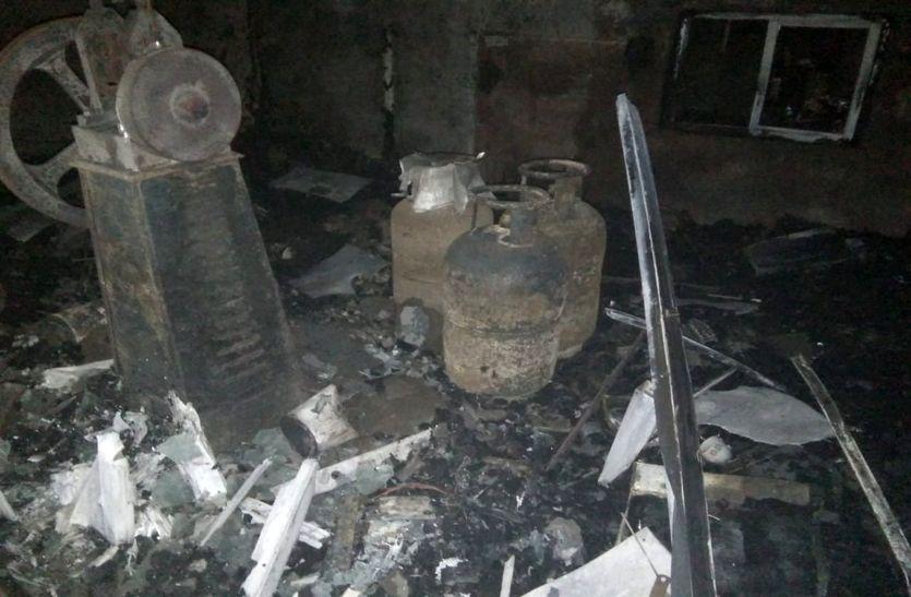 सराफा स्थित ज्वेलरी वर्कशॉप में लगी भीषण आग