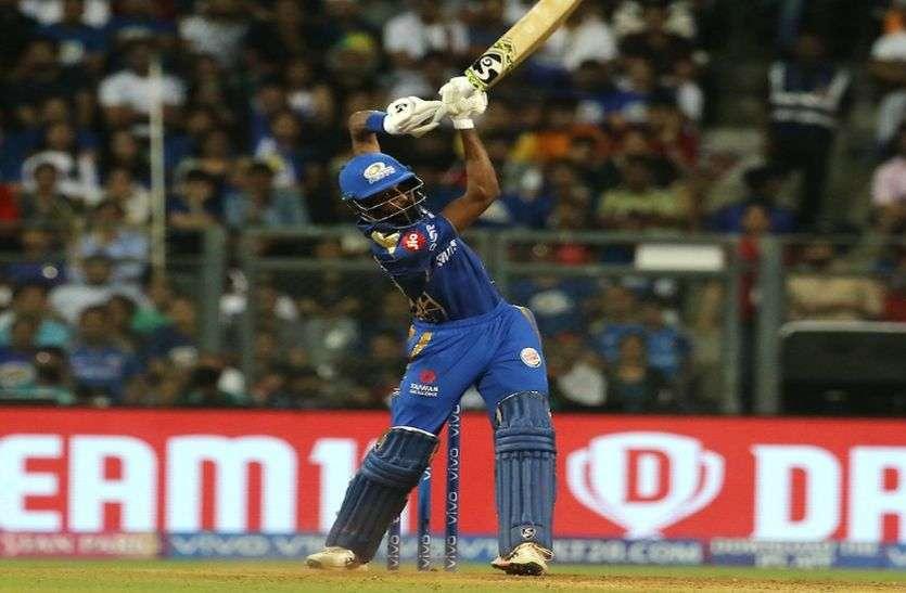 IPL-12 : पांडया ने मैच जिताऊ पारी खेलकर मनाया विश्व कप में चयन का जश्न, मुंबई तीसरे पर पहुंचा