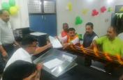 भाजपा प्रत्याशी विनोद सोनकर ने कौशांबी लोकसभा सीट से नामांकन किया