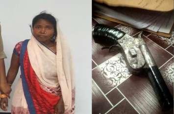 झारखण्ड के कुख्यात नक्सली मनोज चेरो की महिला साथी सोनभद्र में गिरफ्तार