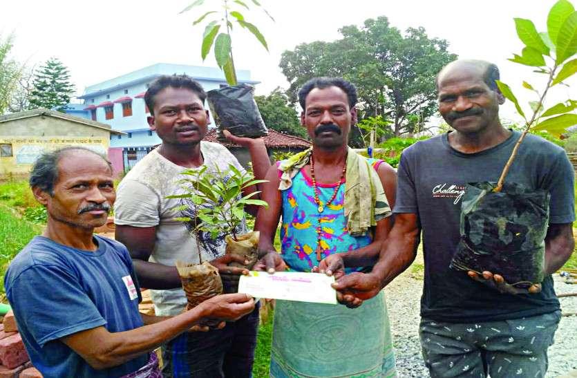 बेटे की शादी में निमंत्रण कार्ड के साथ पौधे भी बाँट रहा ग्रामीण, रिश्तेदारों से कह रहा इन्हे बेटे की तरह पालो क्योंकि यही हमारा भविष्य हैं
