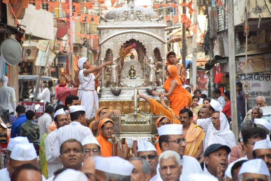 Mahavir Jayanti Celebration pictures in satna