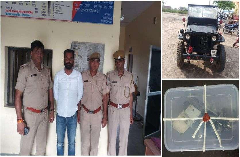 राजस्थान का कुख्यात ईनामी बदमाश धनसिंह गिरफ्तार
