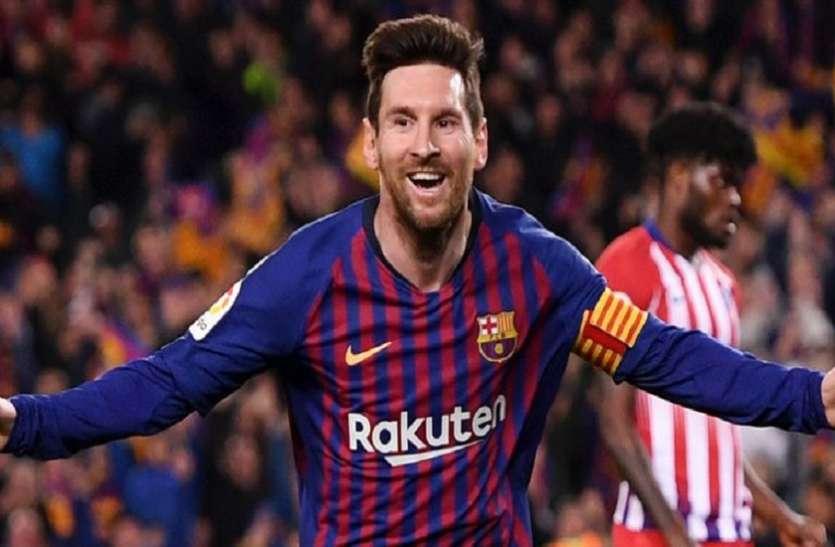 चैंपियंस लीग: मेसी के दो गोल की बदौलत बार्सिलोना टूर्नामेंट के सेमीफाइनल में