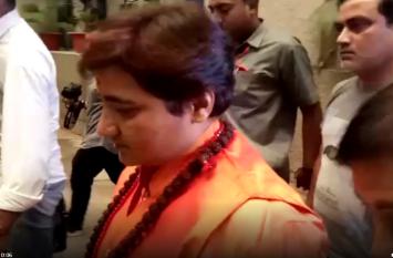 प्रज्ञा ठाकुर पहुंची बीजेपी ऑफिस, सुहास भगत समेत बीेजेपी के नेताओं से की मुलाकात,देखें वीडियो