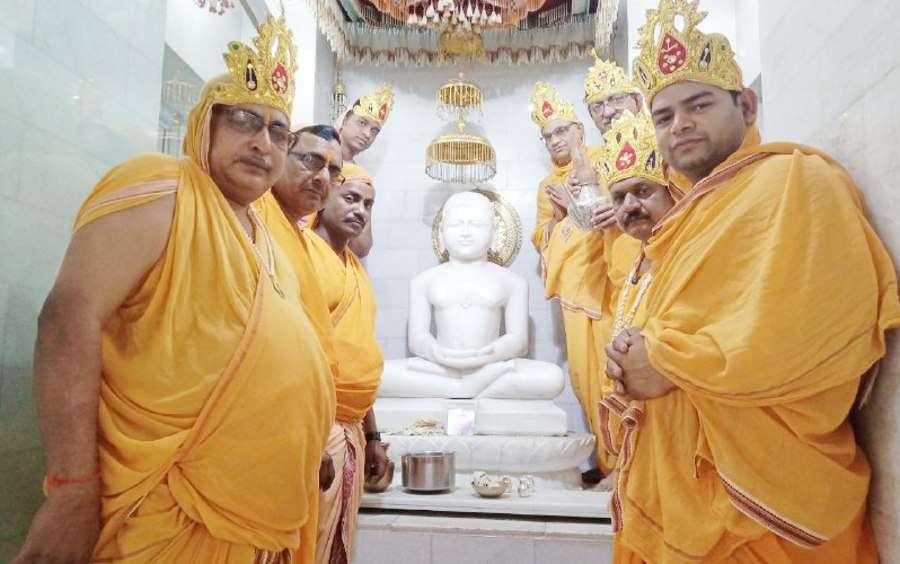 Singrauli NTPC: Mahavir Swami jayanti in Jain Temple Vindhyachal