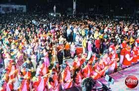 Video : 1008 दीपकों से की भगवान महावीर की महाआरती, जन्मोत्सव में हर्षोल्लास से झूमें जैन समाजजन