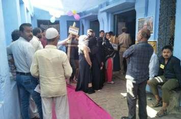 मुस्लिम बहुल इलाके में बम्पर वोटिंग, जामा मस्जिद के पीछे बनाया सेल्फी पॉइंट