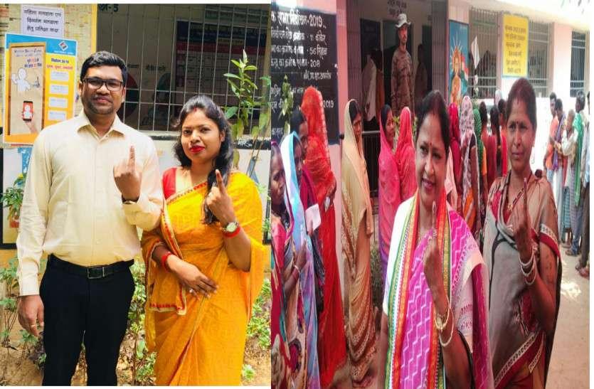 कांकेर में न्यायिक मजिस्ट्रेट ने पत्नी संग किया मतदान, तो सिहावा में वोट डालने पहुंची विधायक