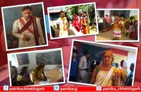 चुनाव के दौरान ये मतदाता बने आकर्षण का केन्द्र, शादी के बीच पोलिंग बूथ पहुंचकर किया मतदान