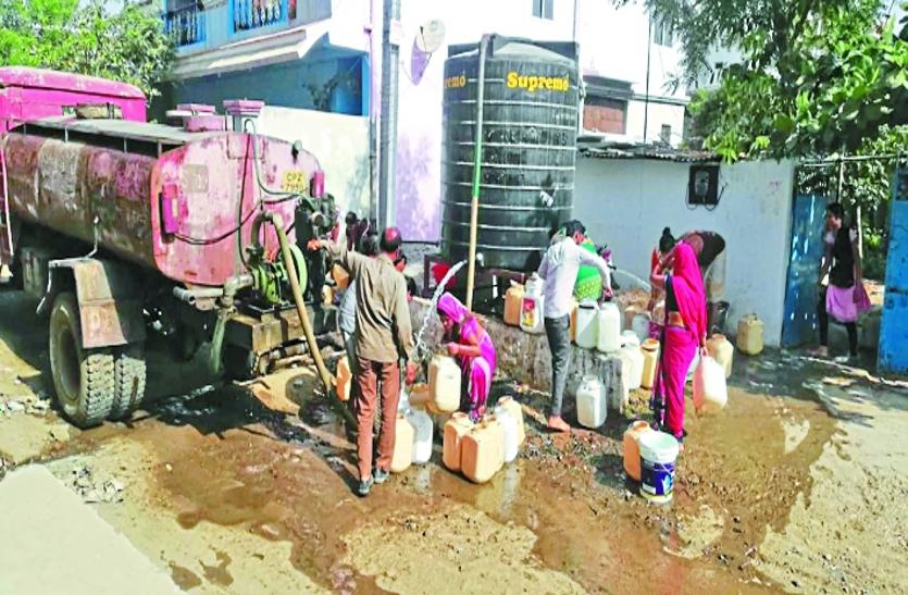 शहर का 40 फीसदी हिस्सा जलसंकट की चपेट में, घरों में एक दिन छोड़कर जलापूर्ति के हालात