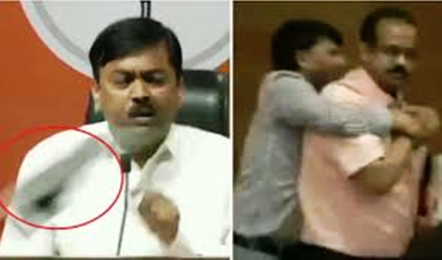 इस वजह से डाॅक्टर भार्गव ने बीजेपी प्रवक्ता पर जूता फेंका