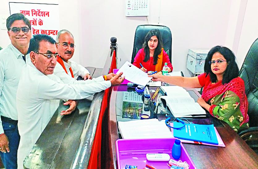 election 2019 : भाजपा और बसपा प्रत्याशियों  ने मुहूर्त में भरा नामांकन