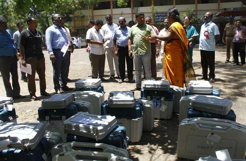 मतगणना केंद्र पर सुरक्षा के कड़े इंतजाम
