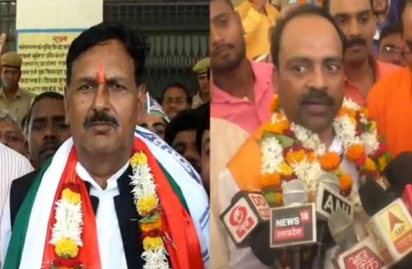 बसपा के रंगनाथ मिश्र और BJP के रमेश बिंद ने किया नामांकन, जानिये किसमें उमड़ी भीड़