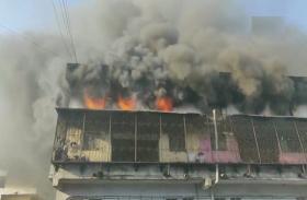 महाराष्ट्र: भिवंडी में इमरात में लगी भीषण आग, पांच गोदाम जलकर राख