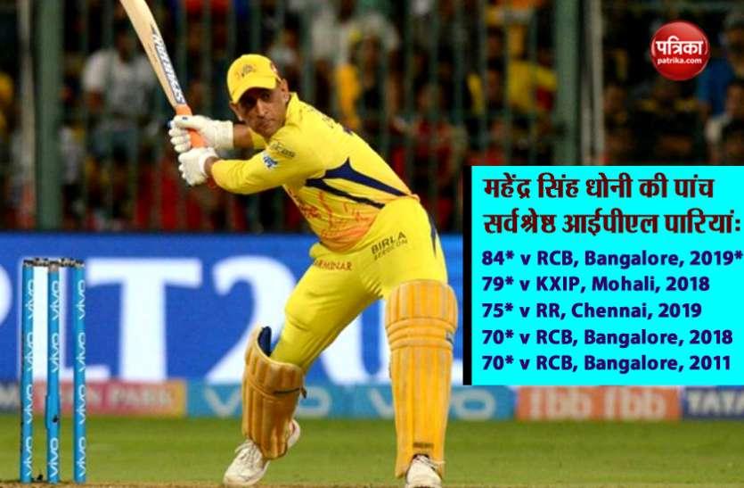 विशेष: धोनी ने बनाया अपने आईपीएल करियर का बेस्ट स्कोर, जानें- धोनी की टॉप-5 पारियों के बारे में