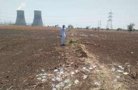 सीएम की सभा के 55 दिन बाद भी समतल नहीं हुए खेत
