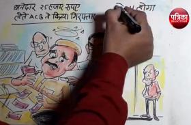 थानेदार रिश्वत लेते रंगे हाथ गिरफ्तार,इस पर आम आदमी क्या कह रहा है देखिए कार्टूनिस्ट लोकेन्द्र सिंह की नजर से