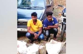वाइल्ड बोर के दो शिकारी गिरफ्तार, न्यायिक हिरासत में
