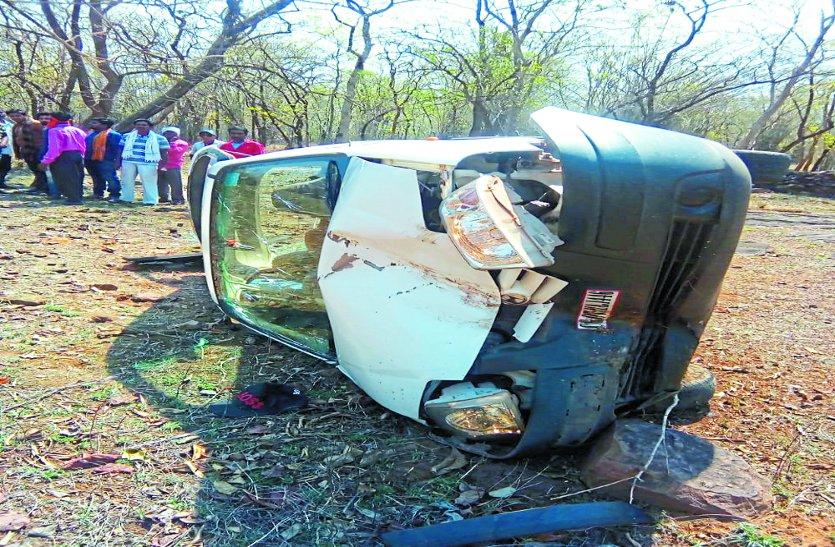 जिले में तीन सड़क दुर्घटना में सात घायल