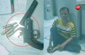 दिल्ली: साकेत मेट्रो स्टेशन से बंदूक के साथ शख्स गिरफ्तार, शराब के नशे में था धुत